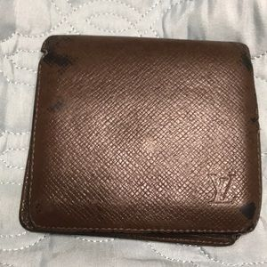 Brown leather Louis Vuitton men's wallet used